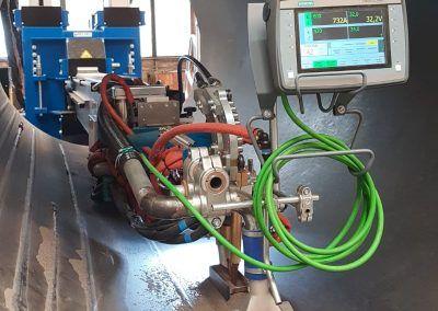 2-Draht UP-Schweißautomatenträger Auslegerarm mit Schweißkopf und Mobile Panel