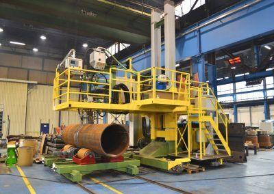 3-Draht Außen-UP-Rundnahtschweißanlage für Rohrdurchmesser bis 4000mm