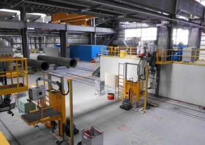 4-Draht Außen-UP-Längsnahtschweißanlagen mit Bedienerbühne und Versorgungsbühne