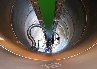 4-Draht Innen-UP-Rundnahtschweißanlage mit Schlackeabsaugung für Offshore-Wind Fundamente