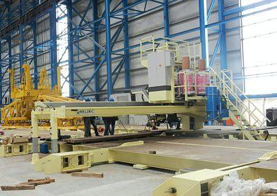 4-Draht UP-Plattenschweißanlage 180° drehbar für Schweißlänge 5000 mm