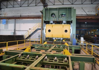 Pre-Bending Press for steel plates with 35000 kN pressing force with infeed roller table 1