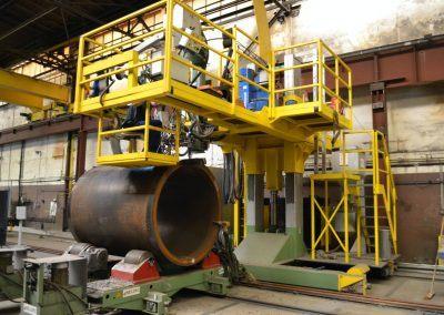 Außen-UP-Längs- und Rundnahtschweißanlage für Rohrdurchmesser 4000mm