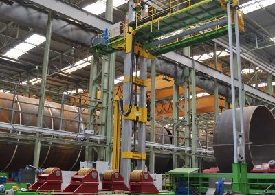 Außen-UP-Längsnahtschweißanlage mit Tandem-Fahr-Drehvorrichtung für Rohrdurchmesser 10000mm