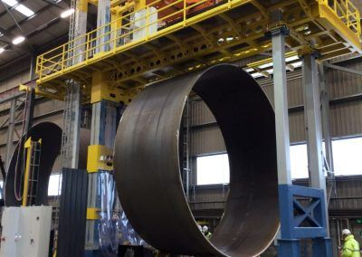 Außen-UP-Längsnahtschweißanlage mit Tandem-Fahr-Drehvorrichtung für Rohrdurchmesser 8500mm
