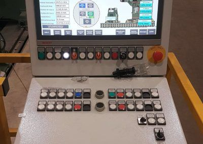 User panel with visualization double end milling machine