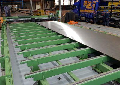 Steel Plate Measuring Machine with clad (bi-metal) plate