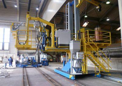 Kombinierte Außen-UP-Längs- und Rundnahtschweißanlage für Rohrdurchmesser 4000mm