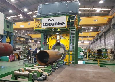 Pipe Calibration Press with 30000kN pressing force for outside pipe diameter 16-96 inch 2